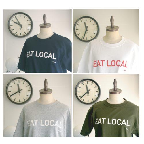 オリジナルTシャツ:EAT LOCAL-size(S)